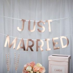 Geo Blush - Just Married Large Bunting 1.5m