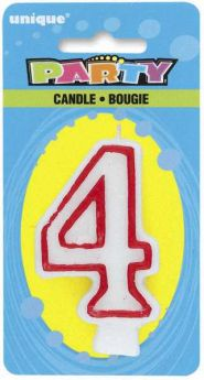 Red & White Cake Candle 4