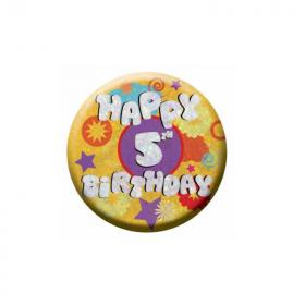 Happy 5th Birthday Holographic Badge