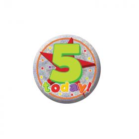 5 Today Birthday Badge