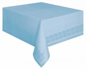 Baby Blue Paper Tablecover with plastic lining