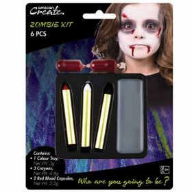 Halloween Horror Zombie Face Paint Kit