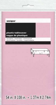 Value Lovely Pink Plastic Tablecover