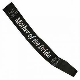 Black & Silver Mother of the Bride To Be Sash with Diamante