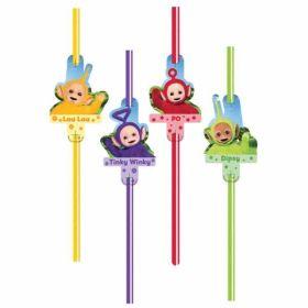 Teletubbies Straws pk8