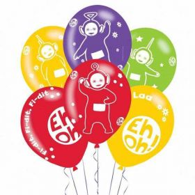 Teletubbies 4 Sided Latex Balloons pk6