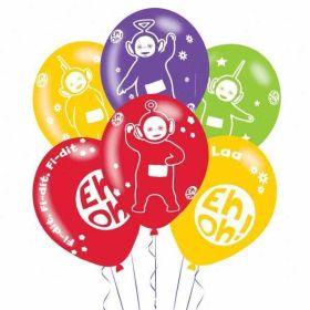 Teletubbies 4 Sided Latex Balloons pk6