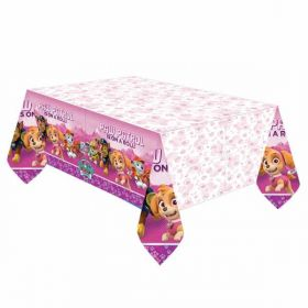 Pink Paw Patrol Plastic Party Tablecover