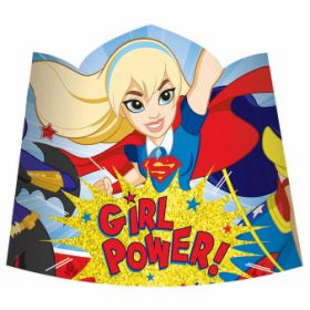 DC Super Hero Girl Paper Tiaras pk8