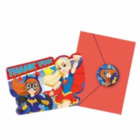 DC Super Hero Girls Thankyou Cards pk8