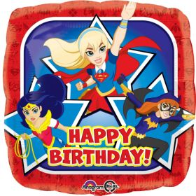 DC Super Hero Girl Foil Balloon - Happy Birthday!