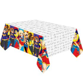 DC Super Hero Girl Plastic Tablecover