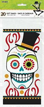 Day of the Dead Cello Bags pk20