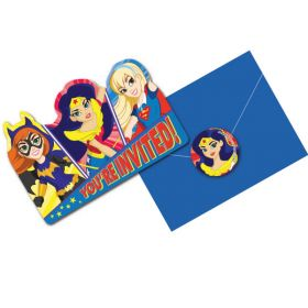 DC Super Hero Girls Party Invites pk8