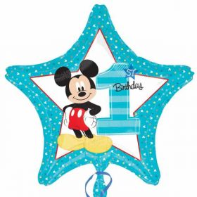 Mickey Mouse 1st Birthday Standard Foil Balloon