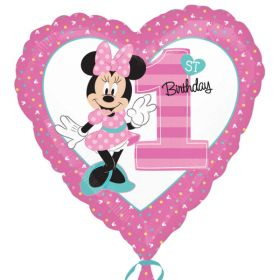 Minnie Mouse 1st Birthday Foil Balloon 18''