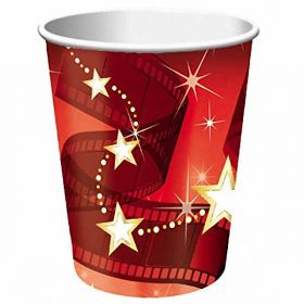 Hollywood Lights Paper Party Cups pk8