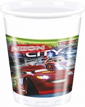 Disney Cars Neon Cups pk8