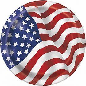 "American Flag 7"" Plates 8pk"