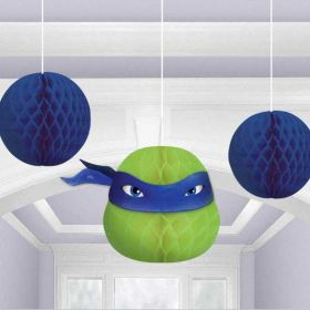 Teenage Mutant Ninja Turtles Honeycomb Decorations pk3
