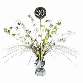 Gold & Silver Sparkling Celebration 30th Centrepiece Sprays 33cm