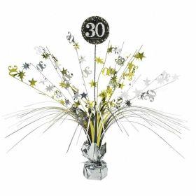 Gold & Silver Sparkling Celebration 30th Centrepiece Sprays 33cm
