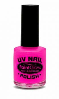 Pink UV Reactive Nail Polish
