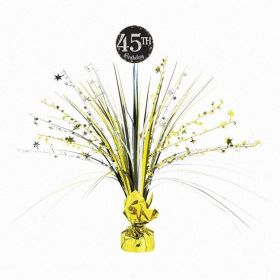 Gold & Silver Sparkling Celebration Add and Age Spray Centrepieces 45cm