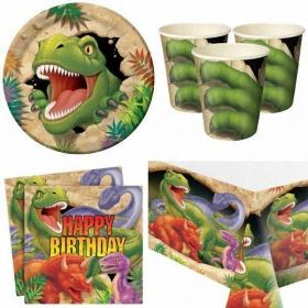 Dino Blast Party Tableware pack for 8