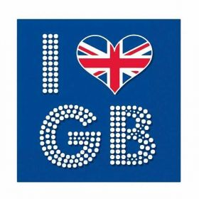 I Love GB Luncheon Napkins pk16