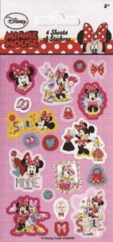 Minnie Mouse Party Bag Stickers pk6