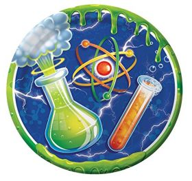Mad Scientist Party Paper Plates pk8 23cm