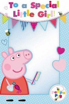 Peppa Pig Special Girl Birthday Card