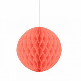 Honeycomb Coral Ball Party Decoration 8""
