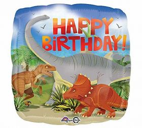 Happy Birthday Dinosaur Standard Foil Balloon