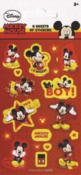 Mickey Mouse Party Bag Stickers pk6