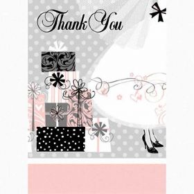 Elegant Wedding Thank You Cards pk8