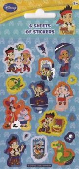 Jake pirates party bag stickers pk6