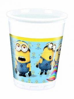 Lovely Minions Cups pk8