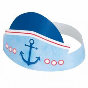 Nautical 1st Birthday Party Hats pk6