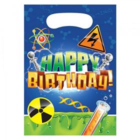 Mad Scientist Plastic Party Bags pk8