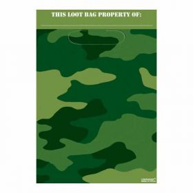 Camouflage Folded Party Loot Bags 8 Pack
