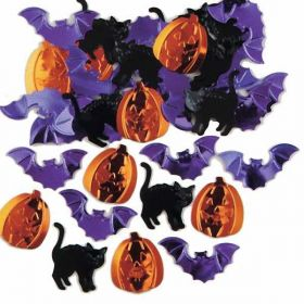 Halloween Trick Or Treat Embossed Confetti Mix
