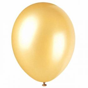 Champagne Gold Pearlised Latex Balloons pk50