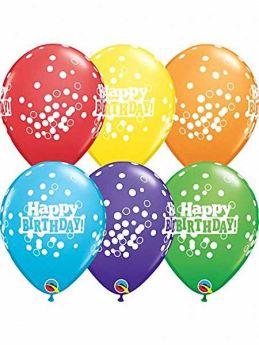 Birthday Confetti Dots Balloons pk6