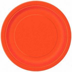 Orange Paper Plates pk16
