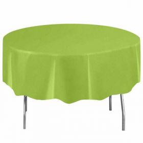 Round Neon Green Plastic Tablecover