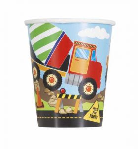 Construction Paper Party Cups pk8