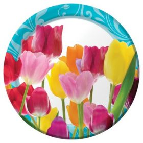 Springtime Dinner Party Plates pk8 22.2 cms