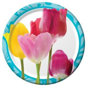 Springtime Small Lunch Plate pk8 17.4 cms